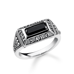ring college ring from the Rebel at heart collection in the THOMAS SABO online store