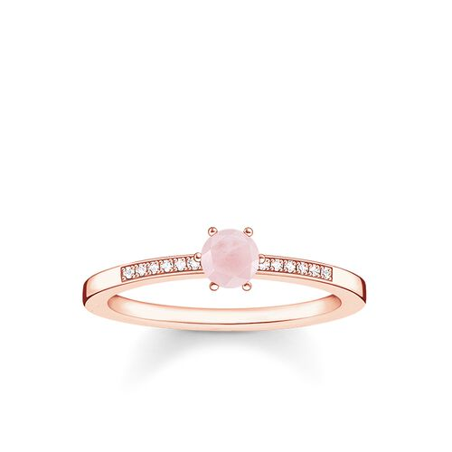 """ring """"pink stone"""" from the Glam & Soul collection in the THOMAS SABO online store"""