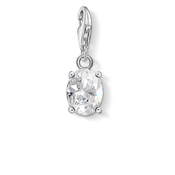 charm pendant white stone oval from the Charm Club Collection collection in the THOMAS SABO online store