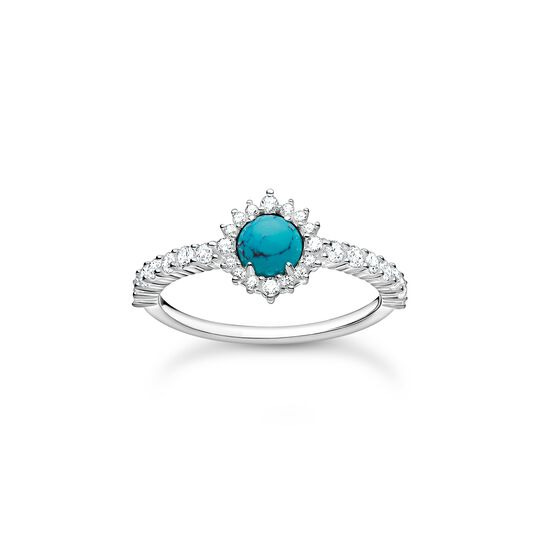 Ring turquoise stone with white stones from the Charming Collection collection in the THOMAS SABO online store