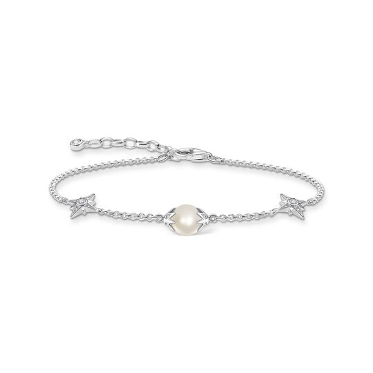 Bracelet pearl with stars silver from the  collection in the THOMAS SABO online store