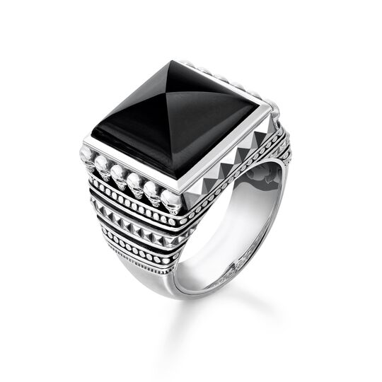 "ring ""Ethnic Skulls Black"" from the Rebel at heart collection in the THOMAS SABO online store"