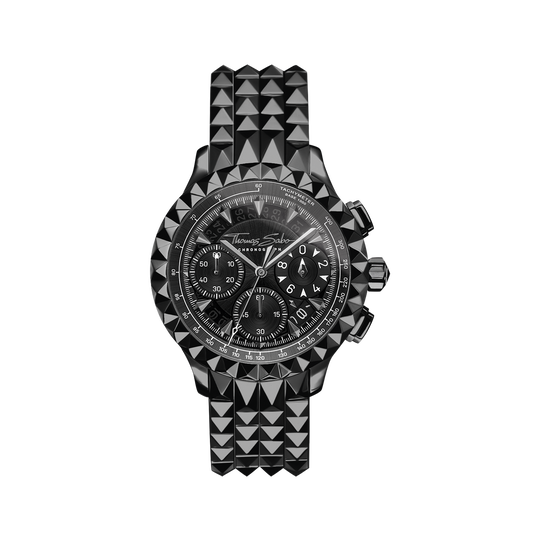 Herrenuhr Rebel at Heart Chronograph schwarz aus der Rebel at heart Kollektion im Online Shop von THOMAS SABO