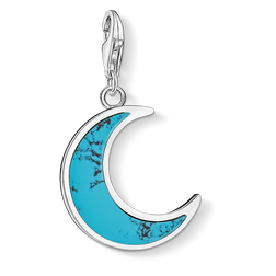 Charm pendant Turquoise moon from the  collection in the THOMAS SABO online store