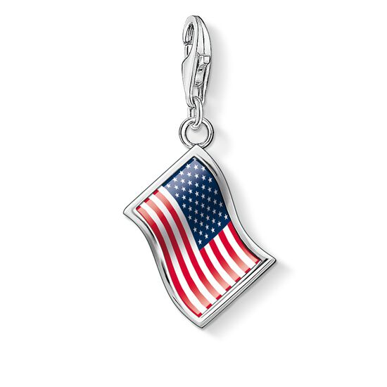 "ciondolo Charm ""bandiera USA"" from the  collection in the THOMAS SABO online store"