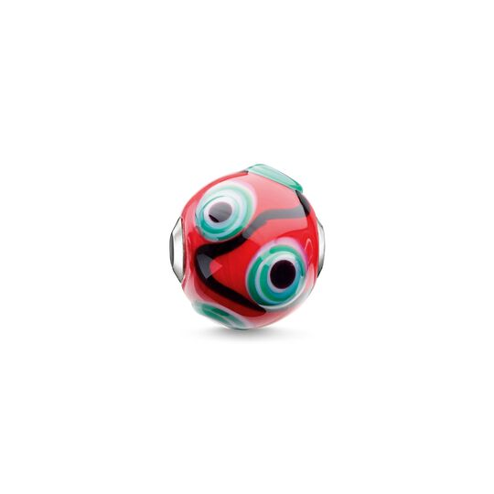 Bead Glass Bead Red, Black, Green, White from the Karma Beads collection in the THOMAS SABO online store