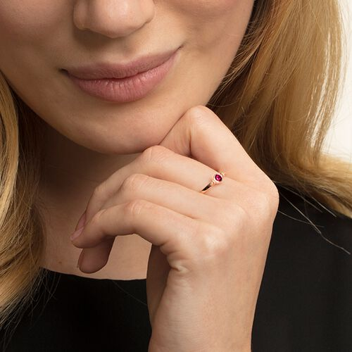 """anello """"Royalty pietra rossa"""" from the Glam & Soul collection in the THOMAS SABO online store"""