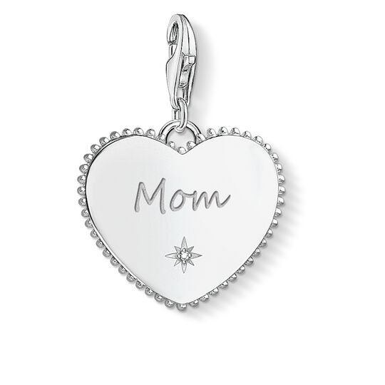 """Charm pendant """"Heart mum silver"""" from the  collection in the THOMAS SABO online store"""