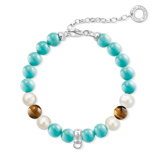 """Charm bracelet """"turquoise, brown, white"""" from the  collection in the THOMAS SABO online store"""