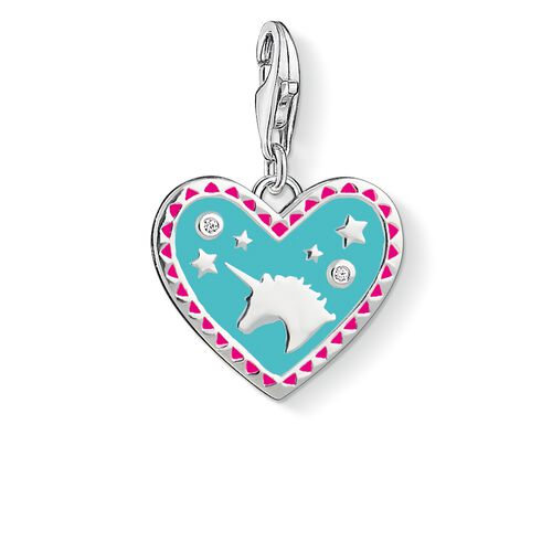 """Charm pendant """"Heart with unicorn """" from the  collection in the THOMAS SABO online store"""