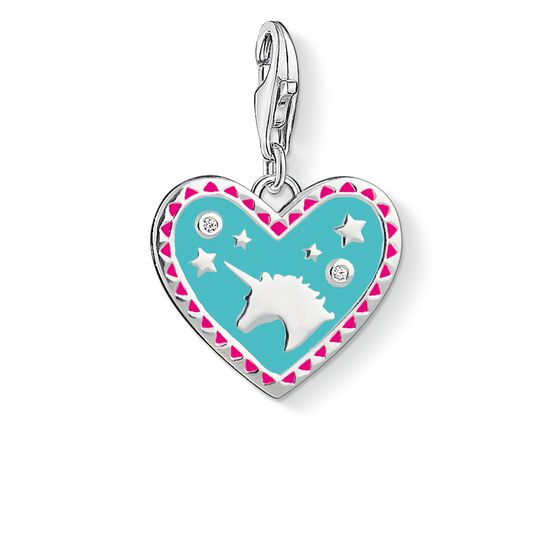 "Charm pendant ""Heart with unicorn"" from the  collection in the THOMAS SABO online store"
