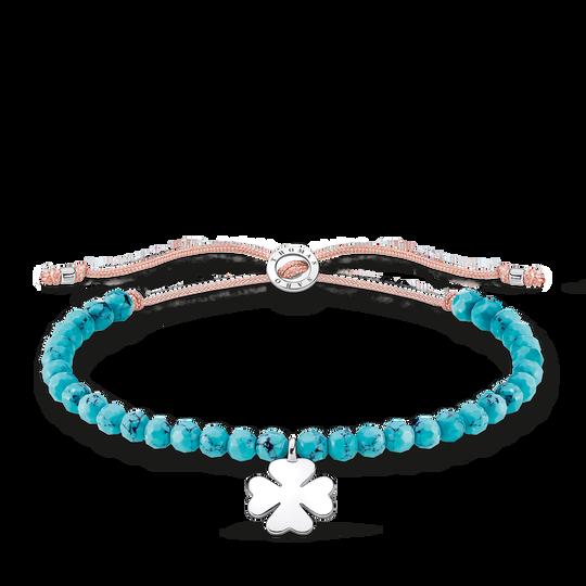 Armband Pärlor turkos med klöverblad ur kollektionen Charming Collection i THOMAS SABO:s onlineshop
