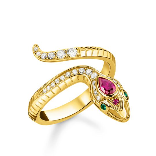 Ring snake gold from the Glam & Soul collection in the THOMAS SABO online store