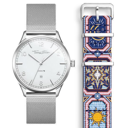 SET CODE TS montre blanche et bracelet ciel nocturne multicolore de la collection  dans la boutique en ligne de THOMAS SABO