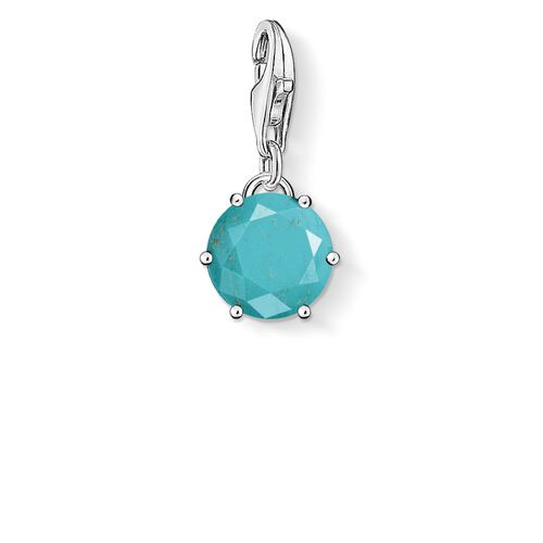 "ciondolo Charm ""Pietra turchese"" from the  collection in the THOMAS SABO online store"