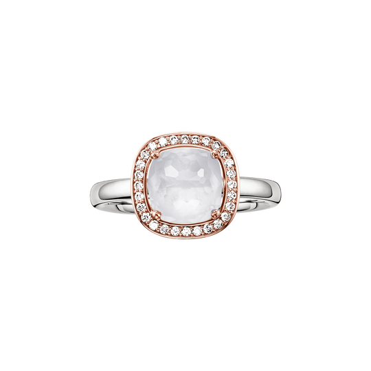solitair ring white from the Glam & Soul collection in the THOMAS SABO online store