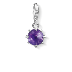 Charm pendant birth stone February from the Glam & Soul collection in the THOMAS SABO online store