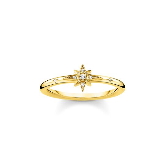 Ring star stones gold from the Charming Collection collection in the THOMAS SABO online store