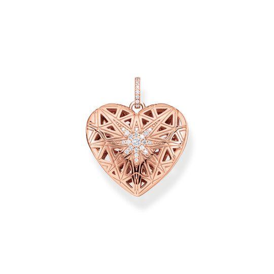 pendentif médaillon cœur étoile rose de la collection  dans la boutique en ligne de THOMAS SABO