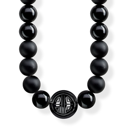 "necklace ""Power Necklace Black"" from the Glam & Soul collection in the THOMAS SABO online store"