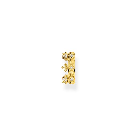 Single ear cuff crown gold from the  collection in the THOMAS SABO online store