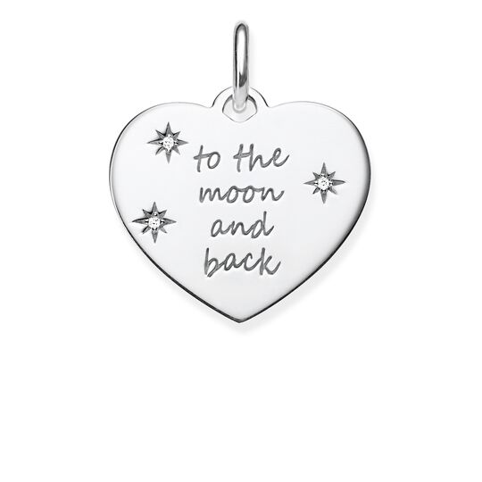 pendant heart TO THE MOON AND BACK from the Love Bridge collection in the THOMAS SABO online store
