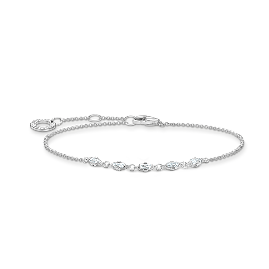 Bracelet vintage white stones silver from the Charming Collection collection in the THOMAS SABO online store
