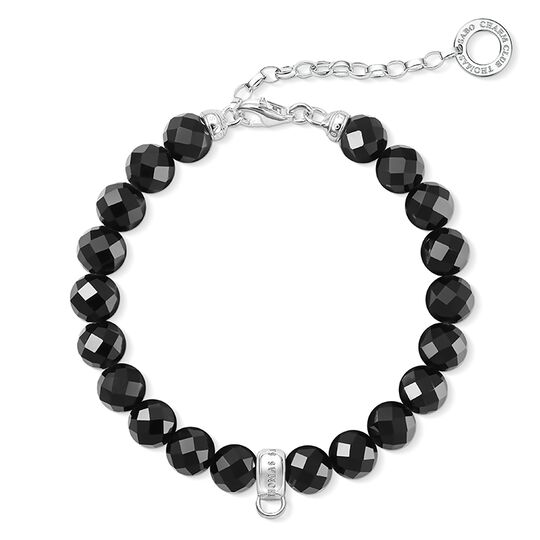 Charm bracelet black from the  collection in the THOMAS SABO online store