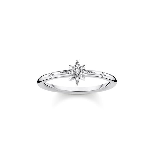 Ring star stones silver from the Charming Collection collection in the THOMAS SABO online store