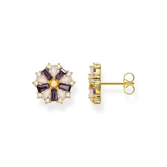 Clous d'oreilles fleur pierres multicolores or de la collection  dans la boutique en ligne de THOMAS SABO