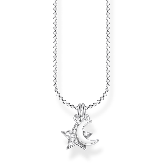 Necklace star & moon from the Charming Collection collection in the THOMAS SABO online store