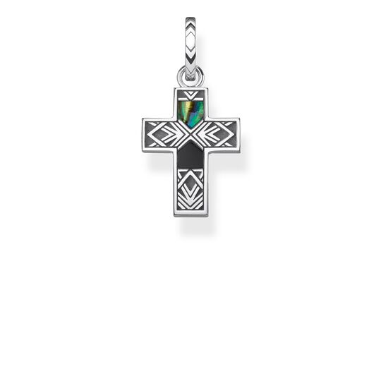 pendant cross mother of pearl abalone from the Rebel at heart collection in the THOMAS SABO online store