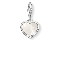 Charm pendant mother-of-pearl heart from the Charm Club Collection collection in the THOMAS SABO online store