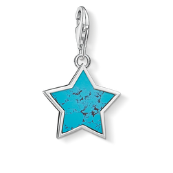 "Charm pendant ""Turquoise star"" from the  collection in the THOMAS SABO online store"