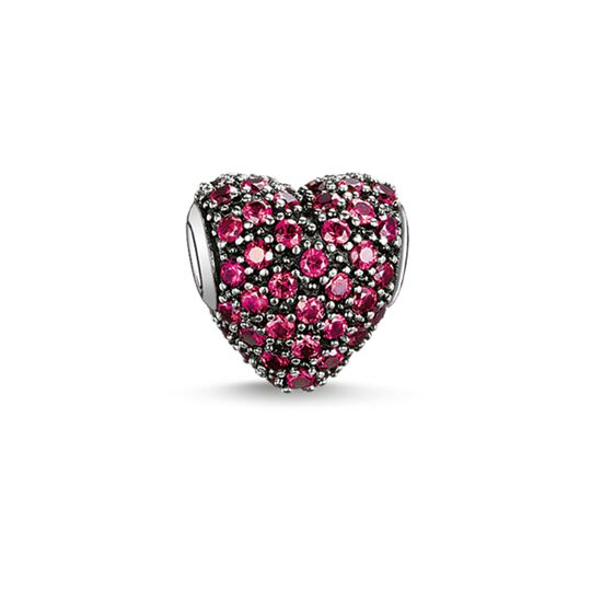 Bead cuore con pavé rosso from the Karma Beads collection in the THOMAS SABO online store