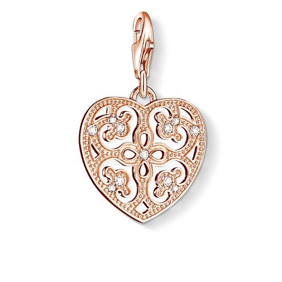 "Charm pendant ""ornament heart"" from the  collection in the THOMAS SABO online store"