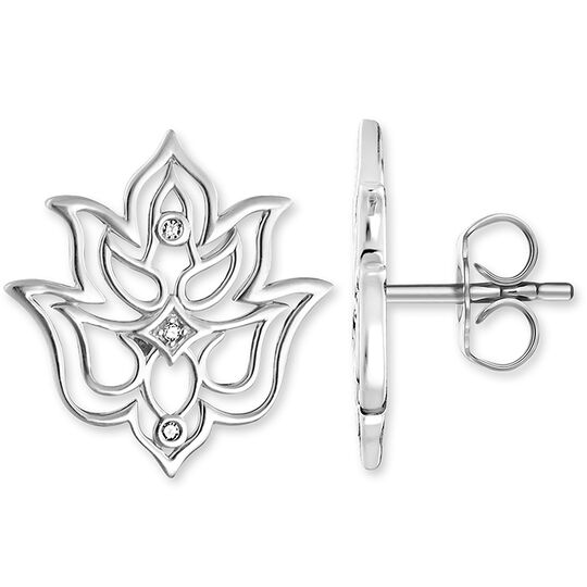 """ear studs """"Lotus flower ornamentation"""" from the Glam & Soul collection in the THOMAS SABO online store"""