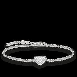 Thomas Sabo necklace & ear studs white SET0230-051-14-L42v Thomas Sabo DcUgmIi0M