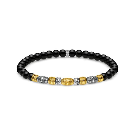 bracelet Two-tone lucky charm, black from the  collection in the THOMAS SABO online store