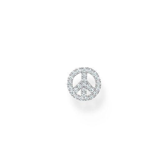 Stiftörhängen individuellt peace silver ur kollektionen Charming Collection i THOMAS SABO:s onlineshop