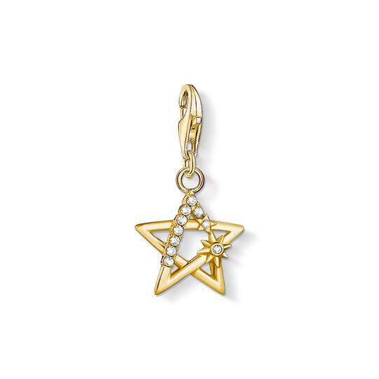 Charm-Anhänger Stern mit Steinen gold aus der Charm Club Kollektion im Online Shop von THOMAS SABO