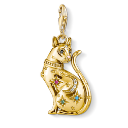 charm pendant cat constellation gold from the  collection in the THOMAS SABO online store