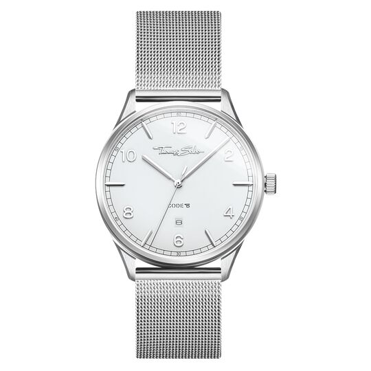 Watch unisex CODE TS silver white from the Glam & Soul collection in the THOMAS SABO online store