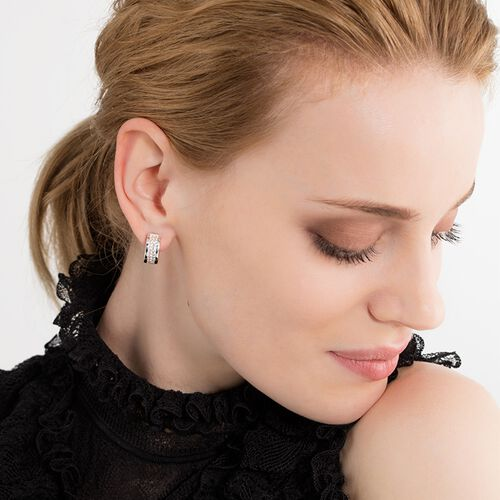 "hoop earrings ""classic white"" from the Glam & Soul collection in the THOMAS SABO online store"