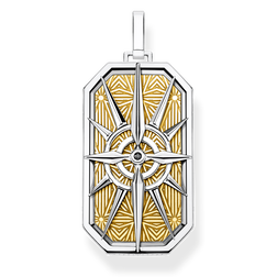 pendant compass star gold from the Rebel at heart collection in the THOMAS SABO online store
