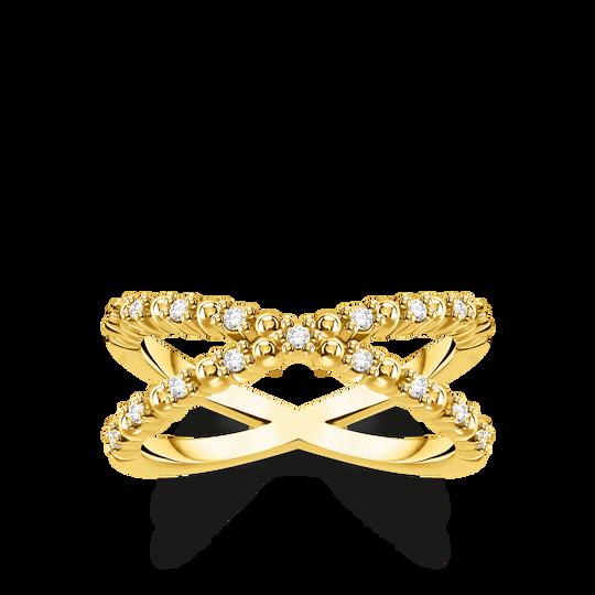 Ring kulor med vita stenar guld ur kollektionen Charming Collection i THOMAS SABO:s onlineshop