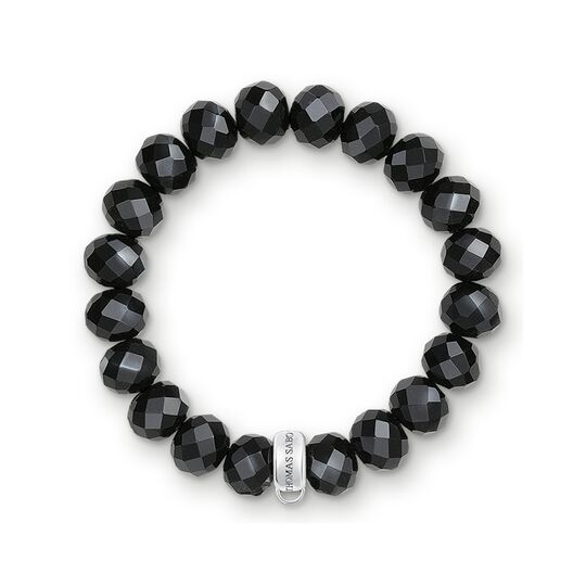 Charm bracelet obsidian from the Charm Club collection in the THOMAS SABO online store