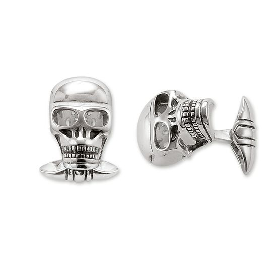 boutons de manchette tête de mort de la collection Rebel at heart dans la boutique en ligne de THOMAS SABO