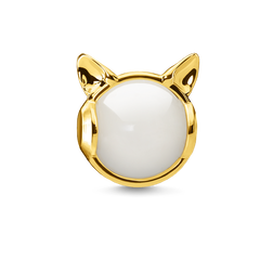 Bead Orecchie di gatto oro from the Karma Beads collection in the THOMAS SABO online store