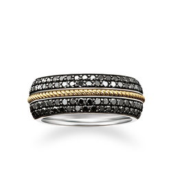 "bague ruban ""diamants noirs"" de la collection Rebel at heart dans la boutique en ligne de THOMAS SABO"